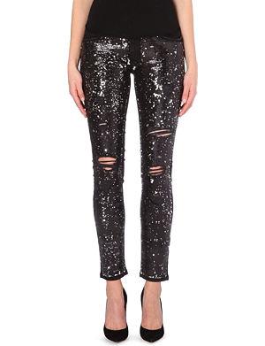 MAJE Glitters skinny mid-rise jean
