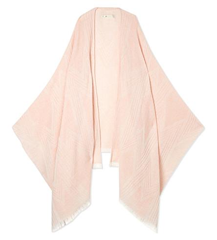 MAJE Eclair ethnic wool shawl (Nude