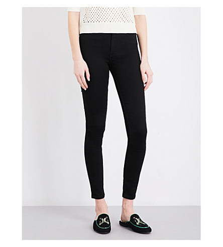 MAJE Agripine high-rise jeans (Black