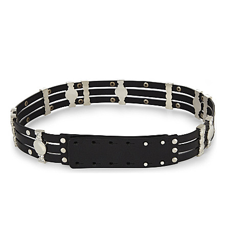 MAJE Aminata leather belt (Black