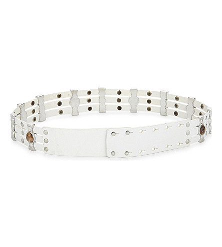 MAJE Amina leather belt (Blanc
