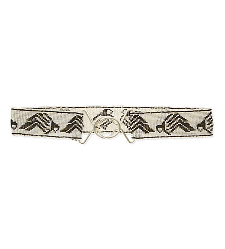 MAJE Anty beaded belt (Bicolore
