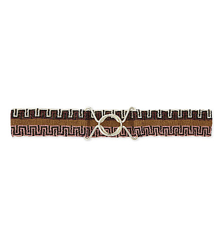 MAJE Aton beaded belt (Multico