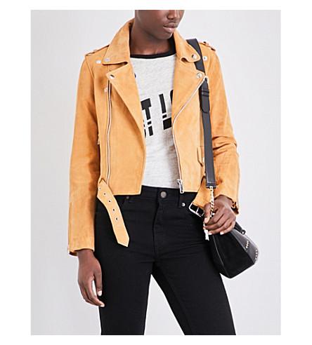 MAJE Beril suede jacket (Camel