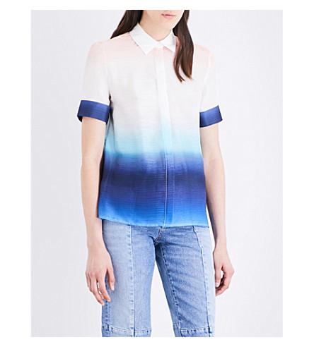 MAJE Carl tie-dye chiffon shirt (Imprime