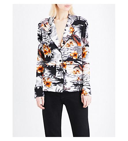 MAJE Chat Hawaiian-print crepe shirt (Imprime