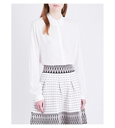 MAJE Coco silk-blend shirt (Blanc