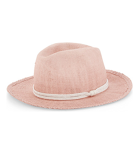 MAJE Elia straw hat (Rose