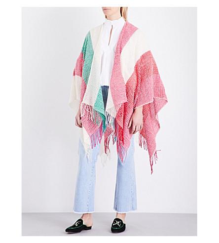 MAJE Eponine wool-blend poncho (Multico