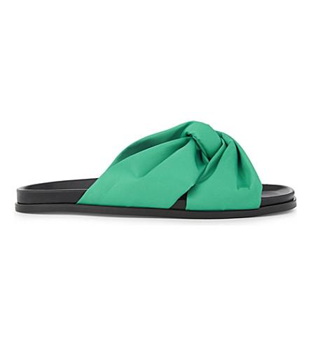 MAJE Fareen satin sandals (Vert