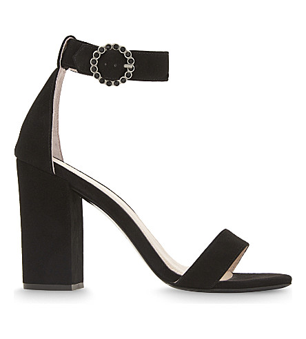 MAJE Faria suede heeled sandals (Black