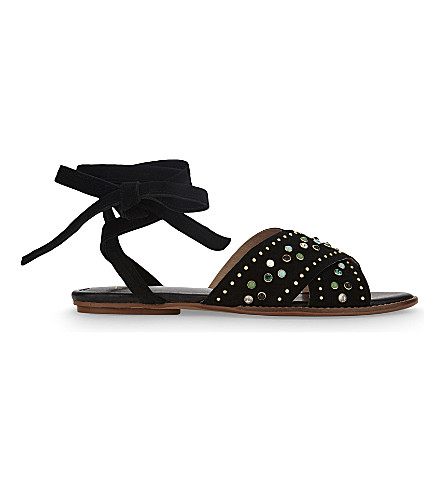 MAJE Feminy suede sandals (Black