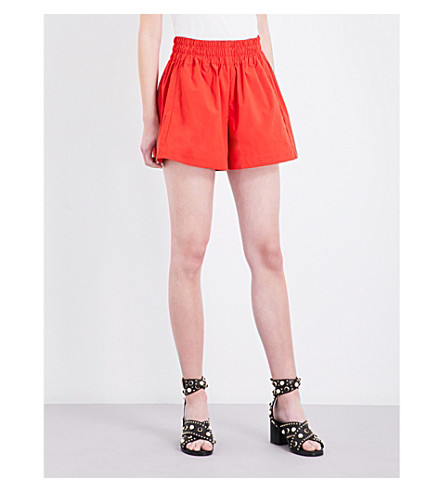 MAJE Ibra shell shorts (Rouge