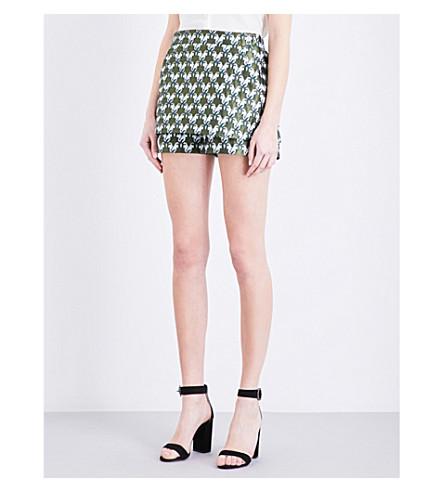 MAJE Iparo metallic brocade shorts (Jacquard