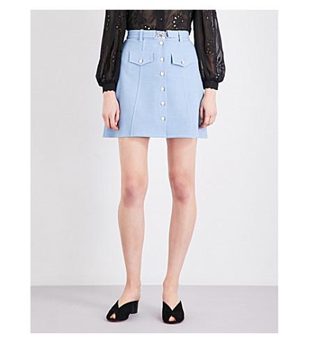 MAJE Jamela woven skirt (Bleu+ciel