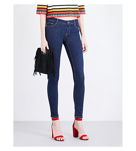 MAJE Jawn skinny low-rise jeans (Denim