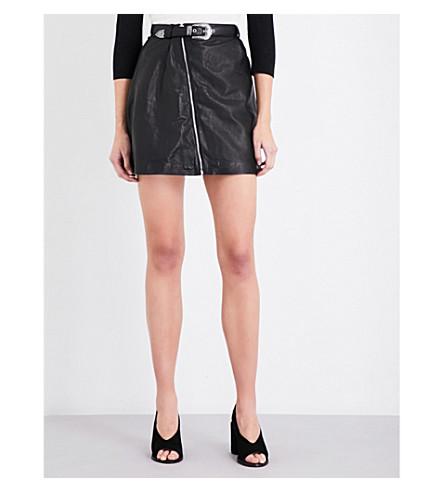 MAJE Jay leather skirt (Black