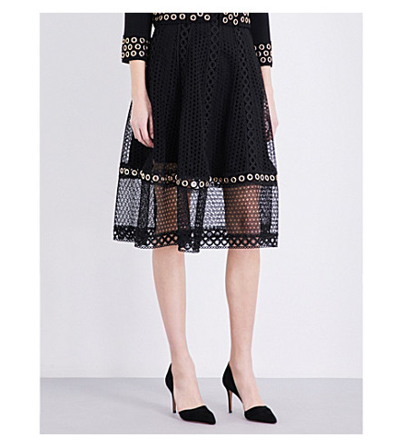 MAJE Jenner lace skirt (Black