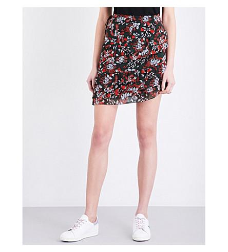 MAJE Jerkita floral-print crepe mini skirt (Imprime
