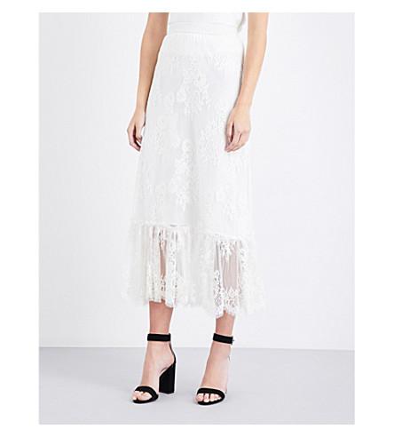 MAJE Jilane lace skirt (Blanc