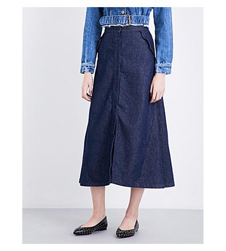 MAJE Jingrid denim skirt (Bleu