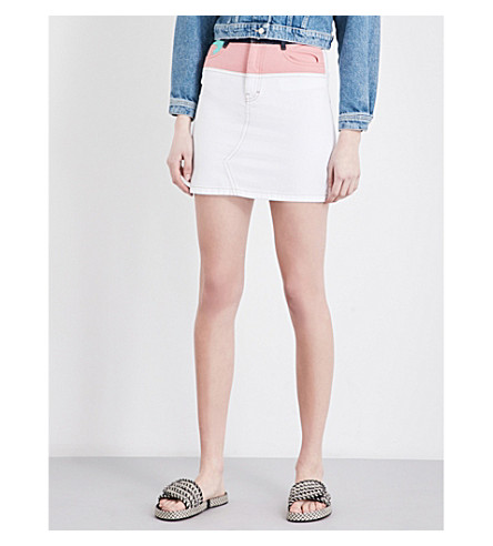 MAJE Jodis denim skirt (Multico