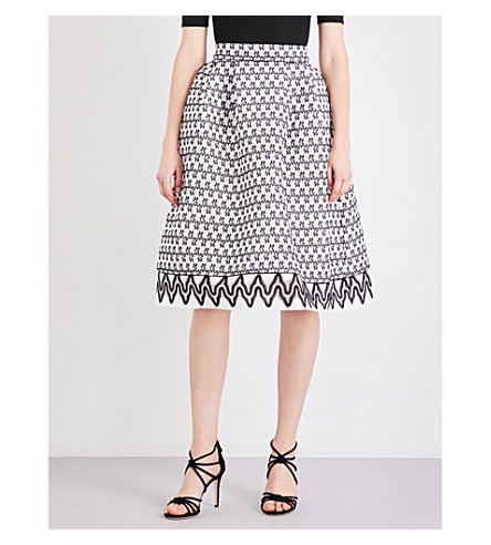 MAJE Josy two-tone lace skirt (Bicolore