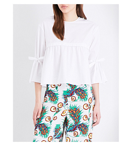 MAJE Lenard cotton-poplin top (Blanc