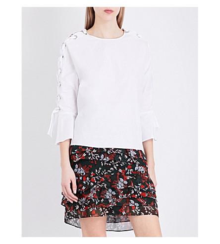 MAJE Leno cotton-poplin top (Blanc