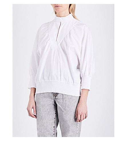 MAJE Libou cotton blouse (Ecru