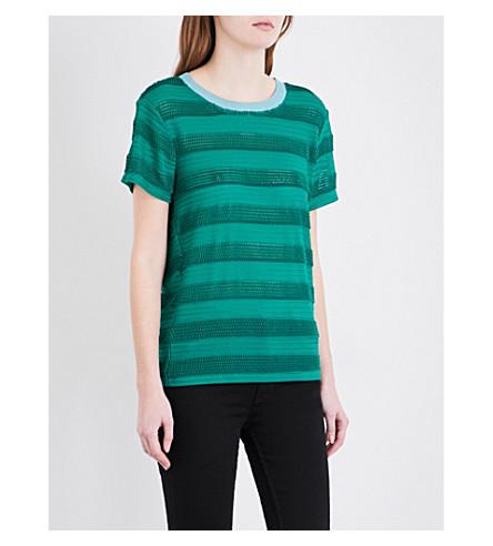 MAJE Loretta knitted top (Vert