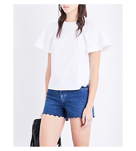 MAJE Loumir cotton top (Blanc