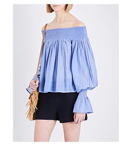 MAJE Lova cotton top (Bleu