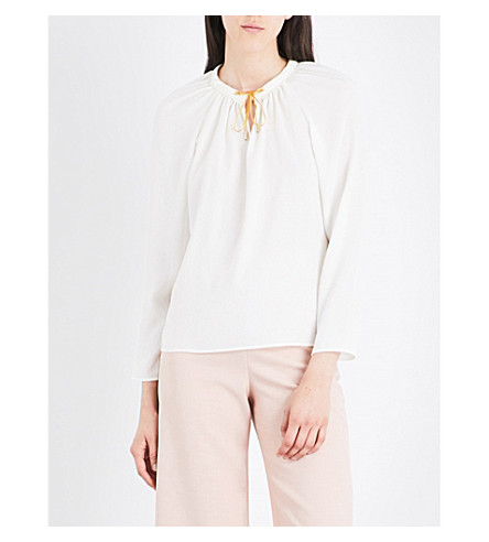 MAJE Luisia woven blouse (Ecru