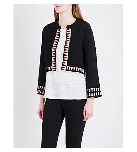 MAJE Mala knitted cardigan (Black