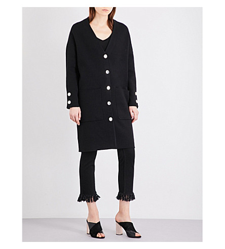 MAJE Marie knitted cardigan (Black