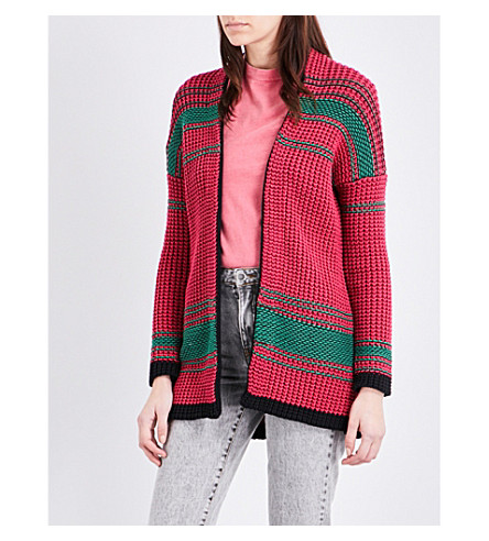 MAJE Meditatio knitted cardigan (Bicolore