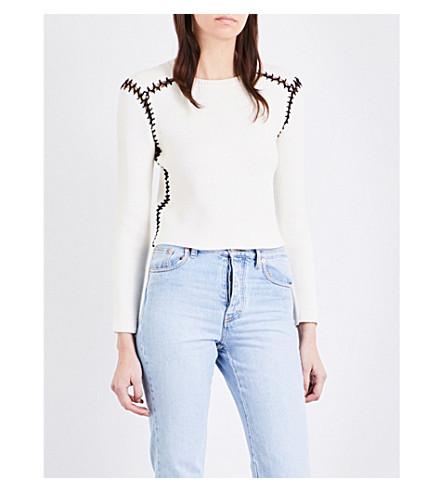 MAJE Meltin knitted jumper (Ecru