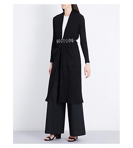 MAJE Milan cotton-blend cardigan (Black