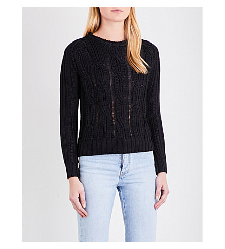MAJE Mist dropped-shoulder jumper (Marine