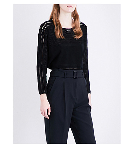 MAJE Mufina knitted jumper (Black