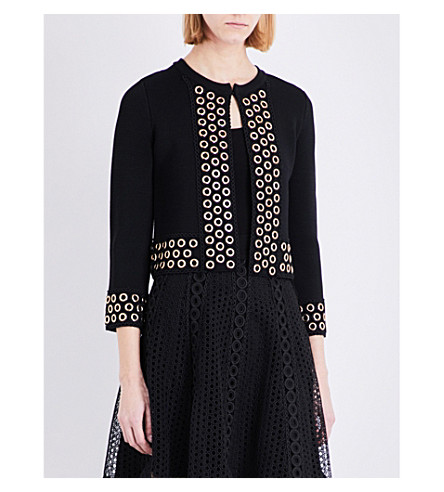 MAJE Music knitted cardigan (Black