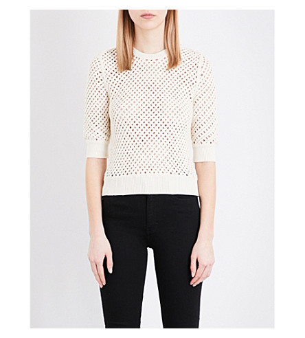 MAJE Mythologi knitted jumper (Beige