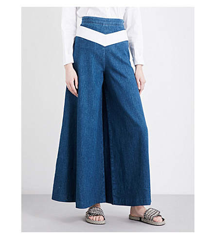 MAJE Pako wide-leg high-rise jeans (Denim