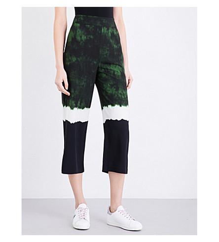 MAJE Panista straight crepe trousers (Imprime