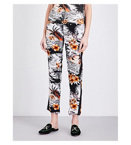 MAJE Pat slim-fit crepe trousers (Imprime