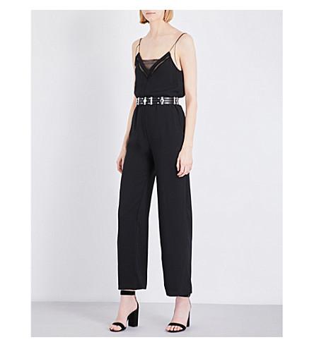 MAJE Pauline crepe jumpsuit (Black