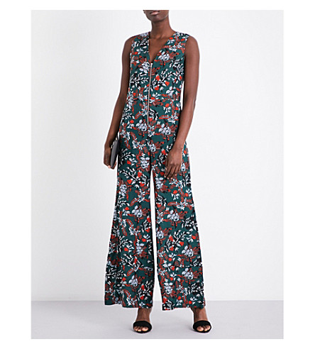 MAJE Penny floral jumpsuit (Imprime