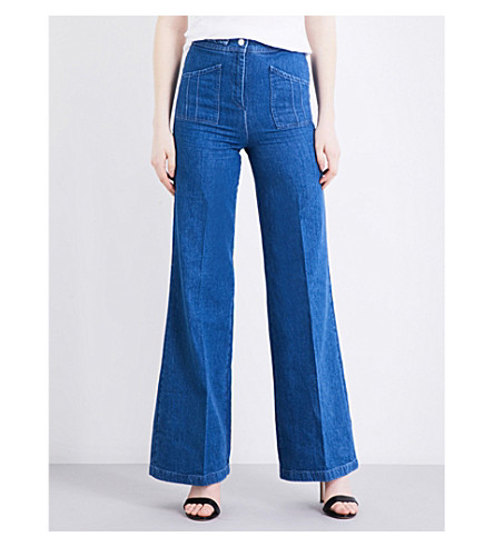 MAJE Phil high-rise wide-leg jeans (Denim