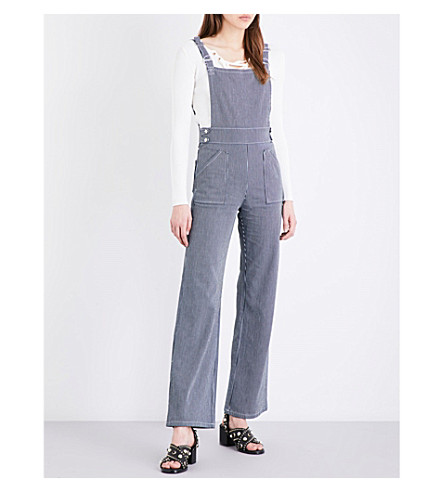 MAJE Pitano stretch-cotton dungarees (Denim